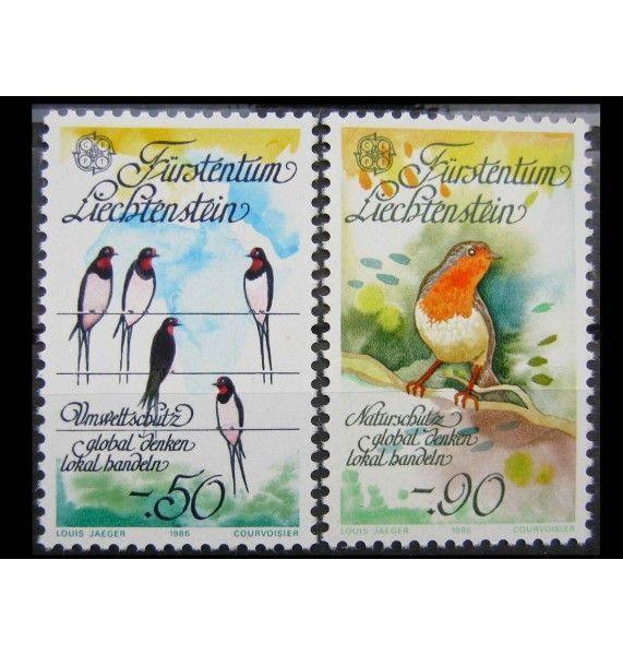 """Лихтенштейн 1986 г. """"Европа: Природа и охрана окружающей среды"""""""