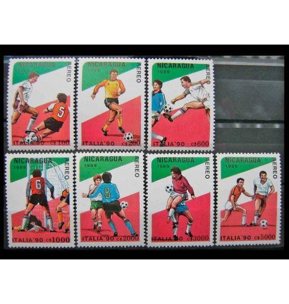 """Никарагуа 1989 г. """"Чемпионат мира по футболу, Италия (1990)"""""""