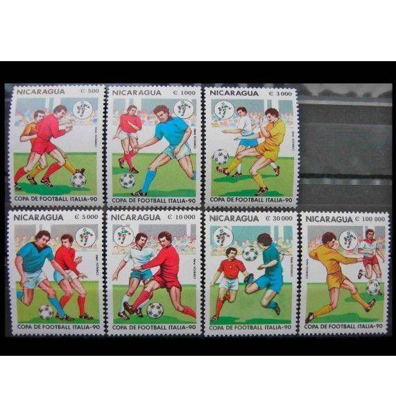 """Никарагуа 1990 г. """"Чемпионат мира по футболу, Италия"""""""