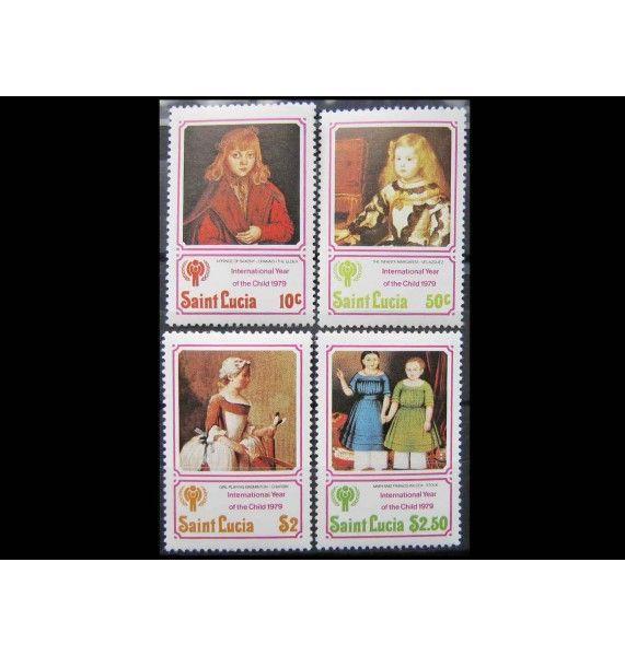 """Сент-Люсия 1979 г. """"Международный год ребенка: Картины"""""""