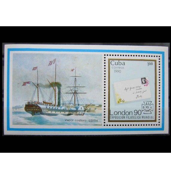 """Куба 1990 г. """"Международная выставка марок STAMP WORLD LONDON`90"""""""