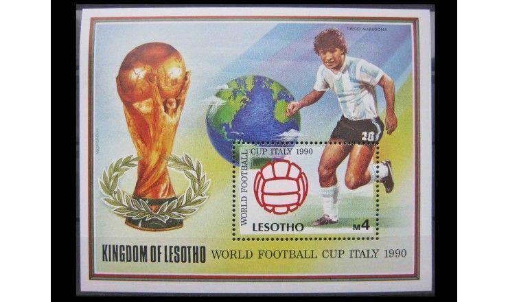 """Лесото 1989 г. """"Чемпионат мира по футболу, Италия (1990)"""""""
