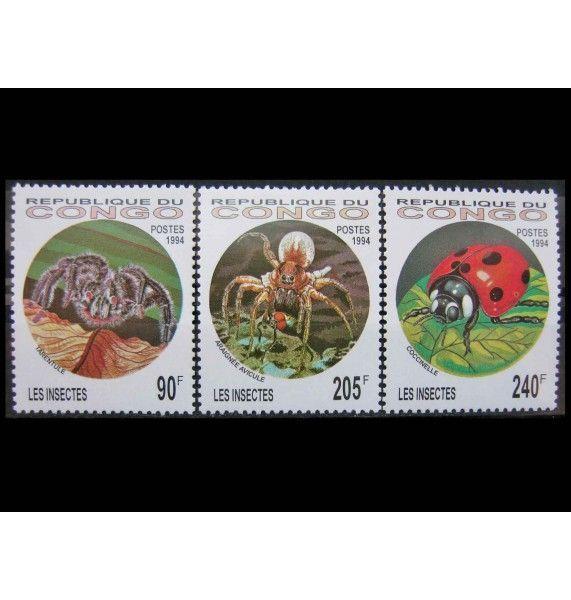 """Республика Конго 1994 г. """"Насекомые и паукообразные"""""""