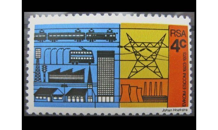 """ЮАР 1973 г. """"50-летие электроснабжения Южной Африки"""""""