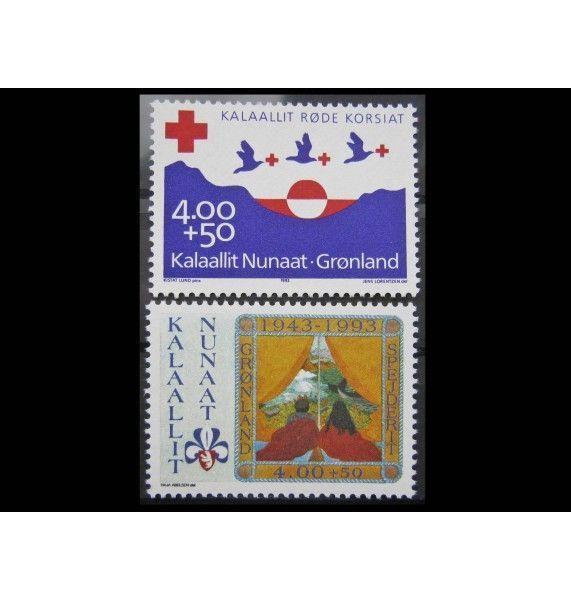 """Гренландия 1993 г. """"70 лет Красному Кресту, 50 лет скаутскому движению"""""""