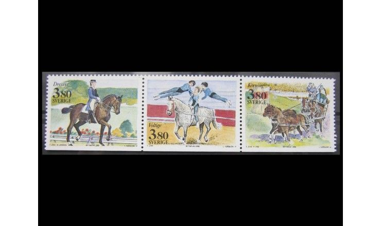 """Швеция 1990 г. """"Международные соревнования по конному спорту"""""""