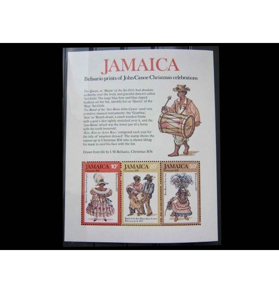 """Ямайка 1976 г. """"Рождество: Танцоры и актеры"""""""