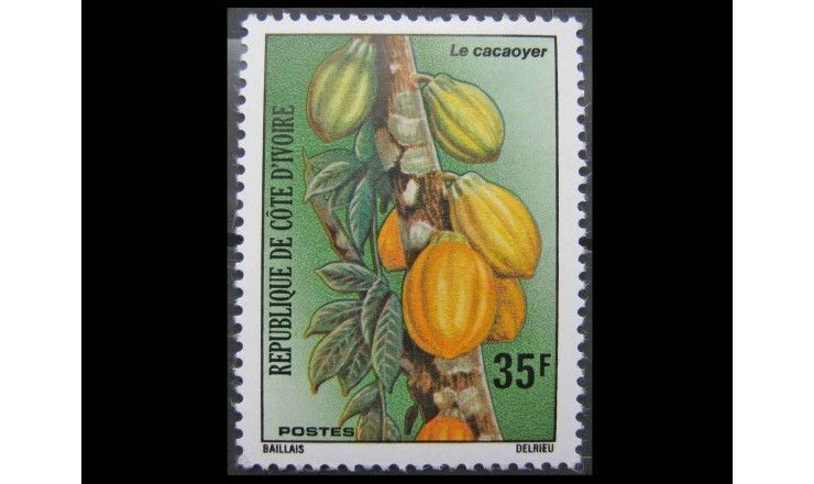 """Кот-д'Ивуар 1975 г. """"Какао дерево"""""""