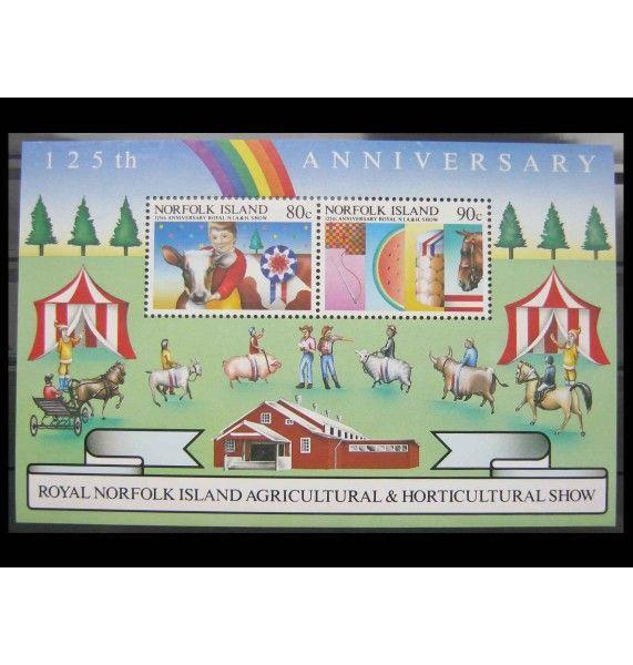 """Остров Норфолк 1985 г. """"125-летие сельскохозяйственной выставке"""""""