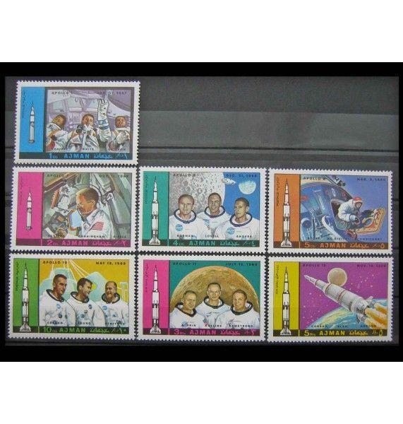"Аджман 1970 г. ""Космическая программа Аполлон: Аполлон 1-12"""