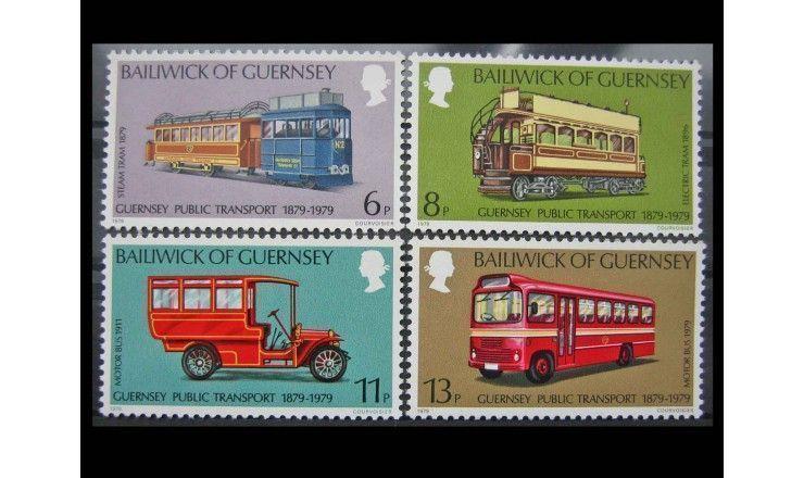 """Гернси 1979 г. """"100-летие общественного транспорта"""""""