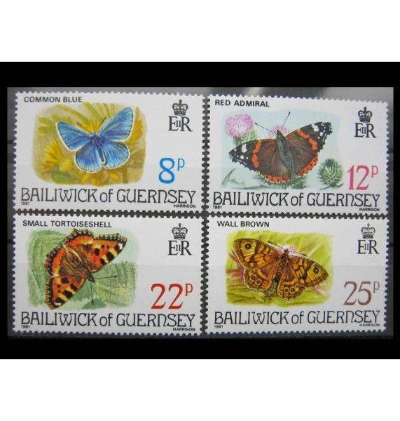 "Гернси 1981 г. ""Бабочки"""
