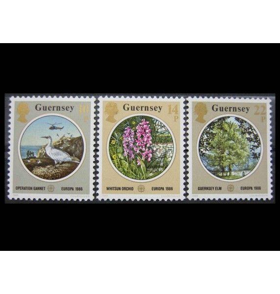 """Гернси 1986 г. """"Европа CEPT: Природа и охрана окружающей среды"""""""