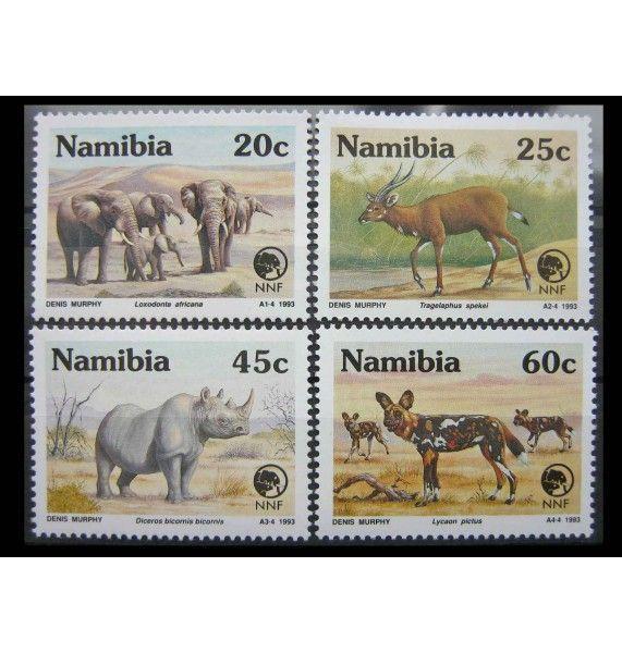 """Намибия 1993 г. """"Фонд природы Намибии: Вымирающие животные"""""""