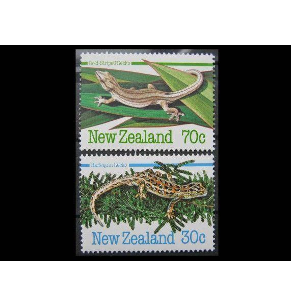 """Новая Зеландия 1984 г. """"Амфибии и рептилии"""""""