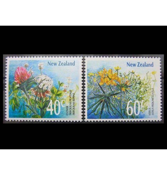 """Новая Зеландия 1989 г. """"Цветы"""""""