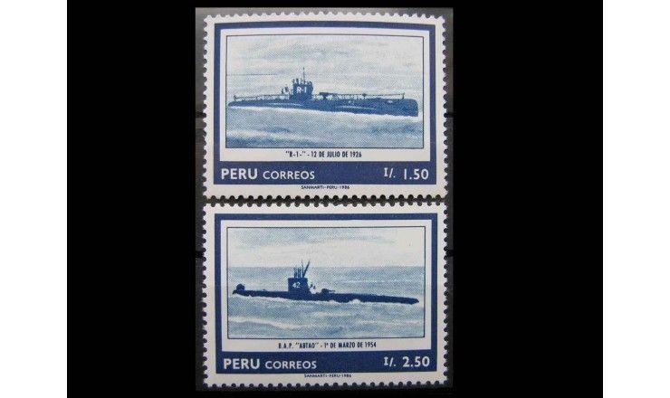 """Перу 1986 г. """"Морской флот"""""""