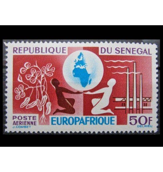 """Сенегал 1964 г. """"Основание организации экономической «EUROPAFRIQUE»"""""""