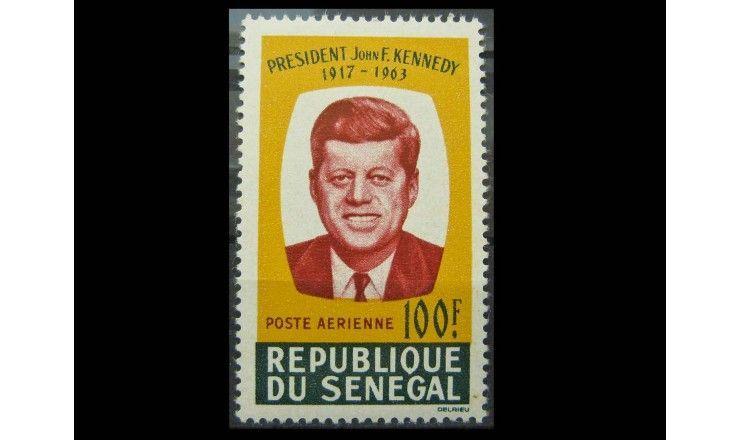 """Сенегал 1964 г. """"Первая годовщина смерти Джона Кеннеди"""""""