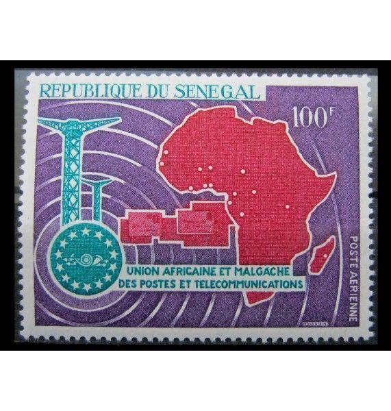 """Сенегал 1967 г. """"6-летие африканско-мадагаскарской почте и союзу электросвязи"""""""