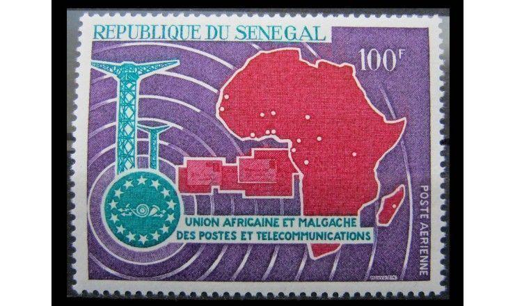 """Сенегал 1967 г. """"6-летие африкано-мадагаскарской почте и союзу электросвязи"""""""
