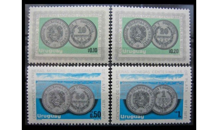 "Уругвай 1979 г. ""100 лет серебряным сентаво"""