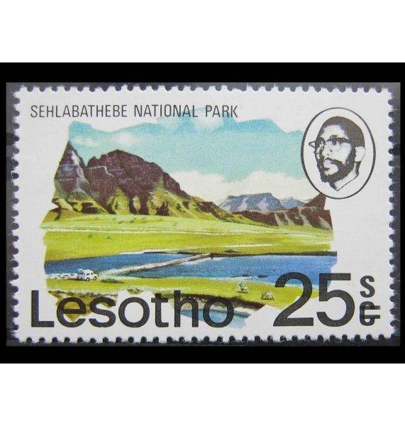 """Лесото 1980 г. """"Местные мотивы"""" (надпечатка)"""
