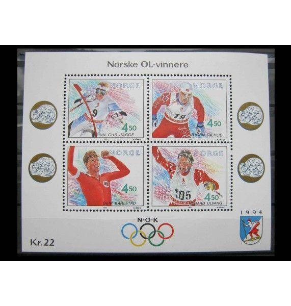"""Норвегия 1993 г. """"Зимние Олимпийские игры 1994, Лиллехаммер"""""""
