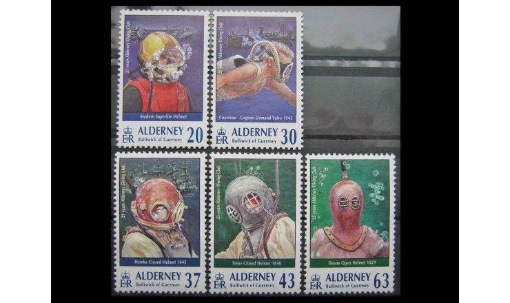 """Олдерни 1998 г. """"Подводный клуб в Олдерни: Акваланги"""""""