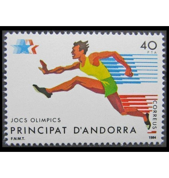 """Андорра (испанская) 1984 г. """"Летние Олимпийские игры, Лос-Анджелес"""""""