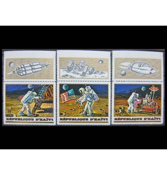 """Гаити 1973 г. """"Пилотируемая высадка на Луну «Аполлон-17»"""""""