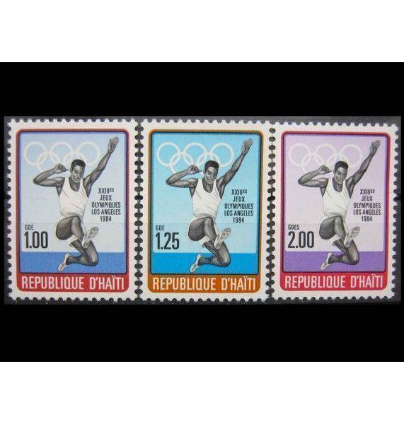 """Гаити 1984 г. """"Летние Олимпийские игры, Лос-Анджелес"""""""
