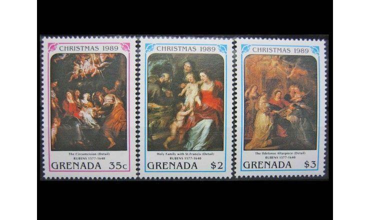 "Гренада 1990 г. ""Рождество 1989: Картины Рубенса"""