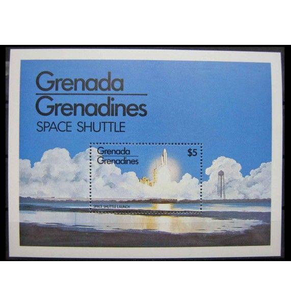 """Гренада и Гренадины 1981 г. """"Спейс шаттл"""""""