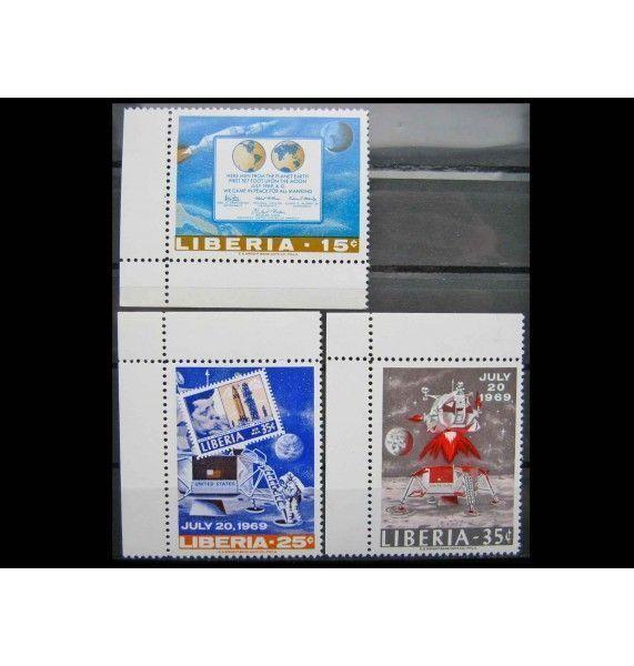 """Либерия 1969 г. """"Первая пилотируемая посадка на Луну - Аполлон -11"""""""