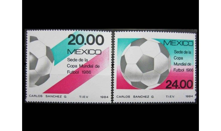 "Мексика 1984 г. ""Чемпионат мира по футболу 1986, Мексика"""