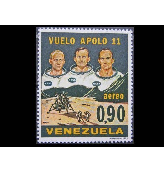 """Венесуэла 1969 г. """"Пилотируемая посадка на Луну - Аполлон -11"""""""