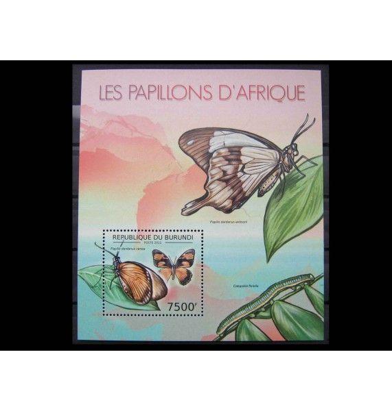 """Бурунди 2012 г. """"Африканские бабочки"""""""