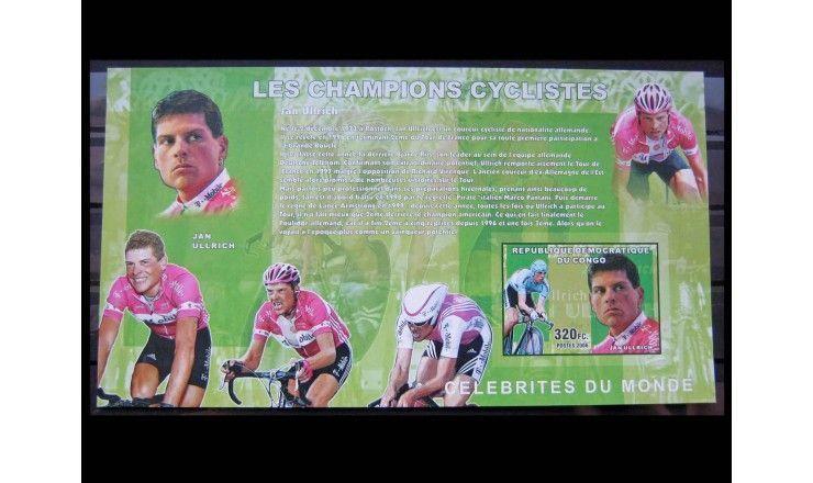 """ДР Конго 2006 г. """"Велоспорт, Ян Ульрих"""""""