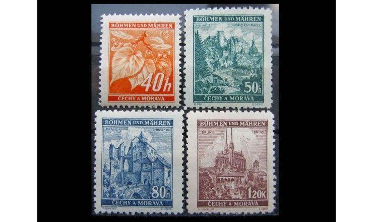 """Германия (Богемия и Моравия) 1940 г. """"Липы и замки"""""""