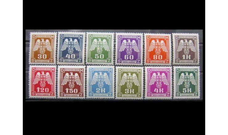 """Германия (Богемия и Моравия) 1943 г. """"Служебные марки: Гербовые орлы"""""""