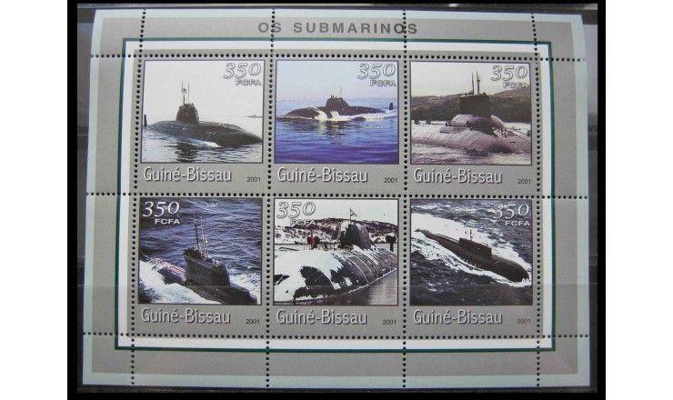 """Гвинея-Бисау 2001 г. """"Подводные лодки"""""""
