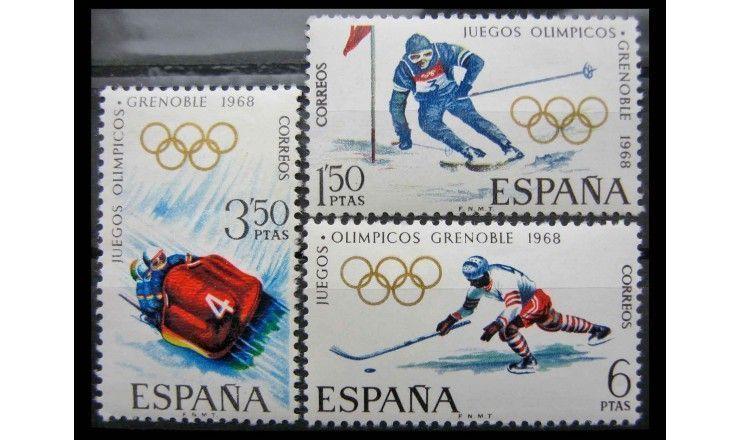"""Испания 1968 г. """"Зимние Олимпийские игры, Гренобль"""""""