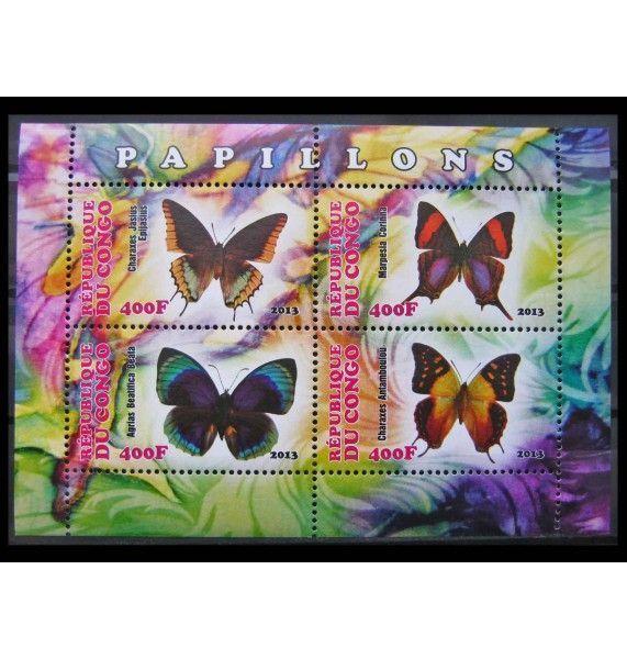 """Республика Конго 2013 г. """"Бабочки"""""""