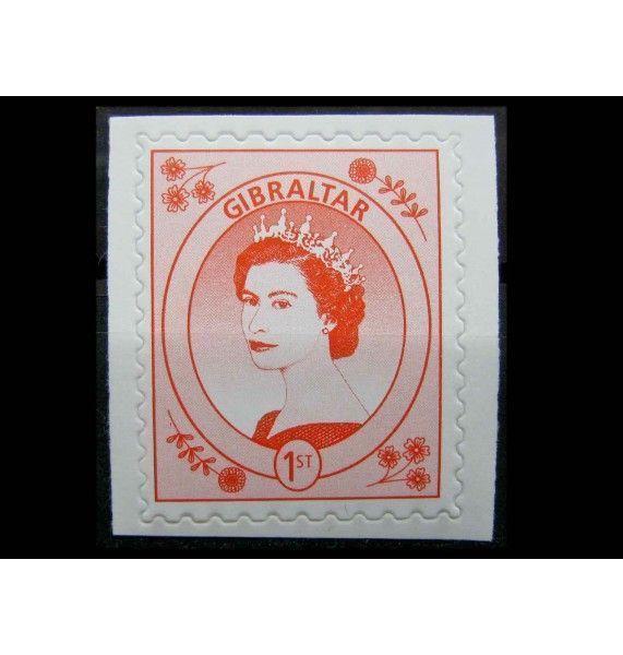 """Гибралтар 1999 г. """"Королева Елизавета II"""" (самоклейка)"""