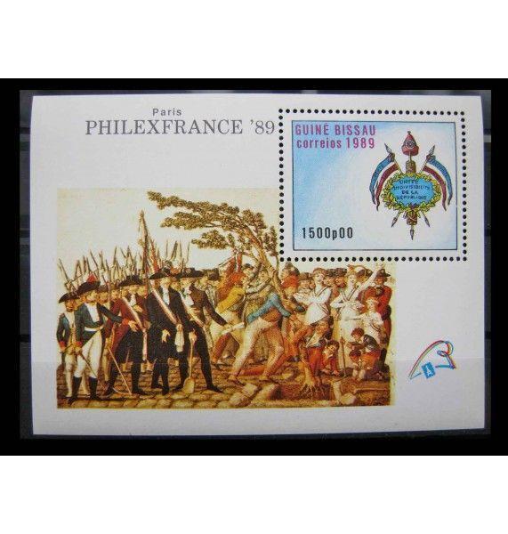 """Гвинея-Бисау 1989 г. """"200 лет Великой французской революции; Филвыставка PHILEXFRANCE`89"""""""