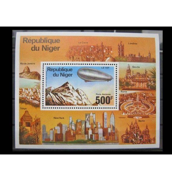 "Нигер 1976 г. ""Дирижабли Цеппелин"""