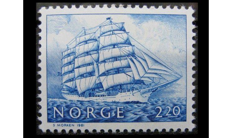 """Норвегия 1981 г. """"Парусные корабли"""""""