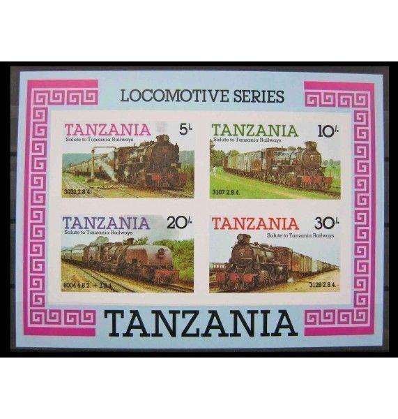 """Танзания 1985 г. """"Локомотивы"""""""