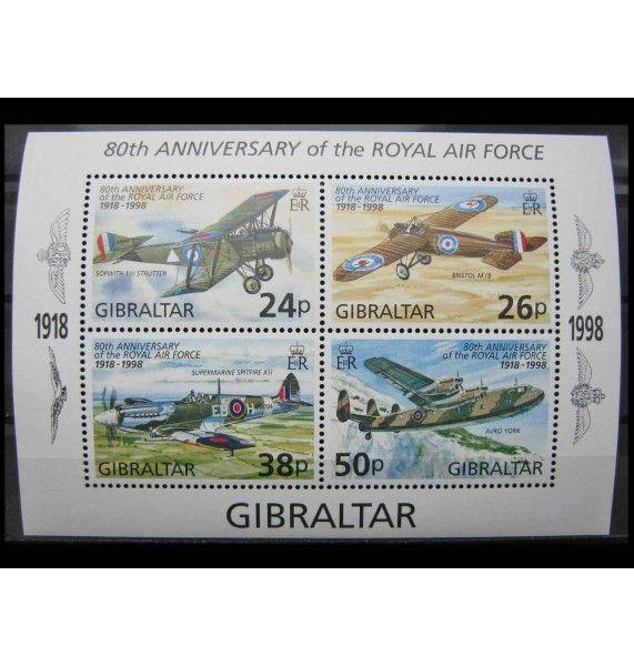 """Гибралтар 1998 г. """"80 лет Королевским военно-воздушным силам Великобритании"""""""